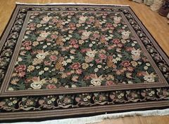 Hand woven fine quality floral design 100% pure wool size 10'x10'