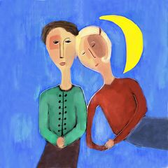 Moon and Couple
