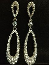 Tear Drop Earrings With Crystal Sets