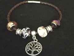 Tree of Life Beaded Charm Bracelet