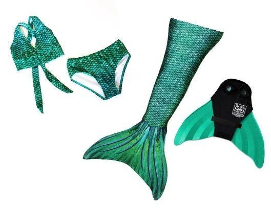 Siren Green Mermaid Tail Monofin Bikini Bundle Mermaids Of Grace