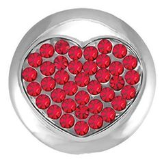 Ginger Snaps BURNING LOVE Interchangeable Jewelry Snap Accessory