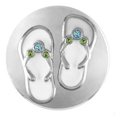 Ginger Snaps Flip Flops (Standard Size) Interchangeable Jewelry