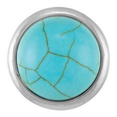 Ginger Snaps TURQUOISE Interchangeable Jewelry Snap Accessory