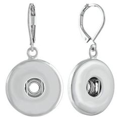 Ginger Snaps SILVER LEVERBACK EARRINGS Interchangeable Jewelry Accessory