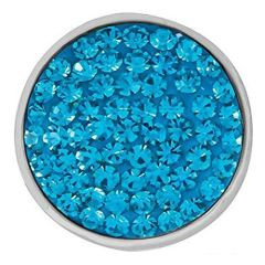 Ginger Snaps BLUE ZIRCON SUGAR SNAP Interchangeable Jewelry Snap Accessory