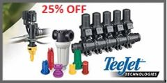 25% off Teejet Products Only, when ordering $100 or more! (Guidance Systems NOT Included)