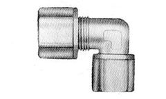 "4564CO -3/8"" compression elbow with 1/4"" Female threads"