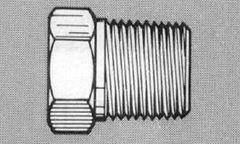 """913B-3D -Brass 3/8"""" NPT (M) Plug"""