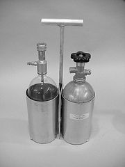 723A -Carrying bracket with handle for 2.5lb cylinder and 3 liter bottle