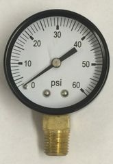 "GA172 - 0-60 psi gauge 1/4"" male thread"