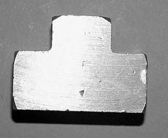 """917B-2D - Brass 1/4"""" NPT (F) Tee"""