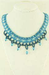 Blue Wave Weave choker necklace