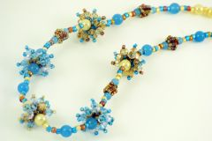 Crystal Starburst beaded bead necklace.