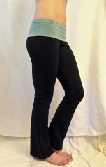 Rollwaist Supplex Pants in Patina and Blue