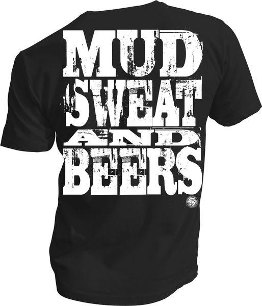 2168cb007b4 Mud Sweat AND BEERS Black Tee SS
