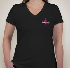 VertPicks Womens Black TShirt Single Sided