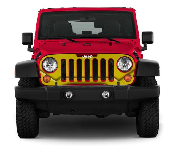 Iron man face jeep grill skin