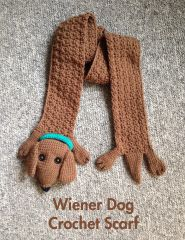 Wiener Dog Crochet Scarf Pattern