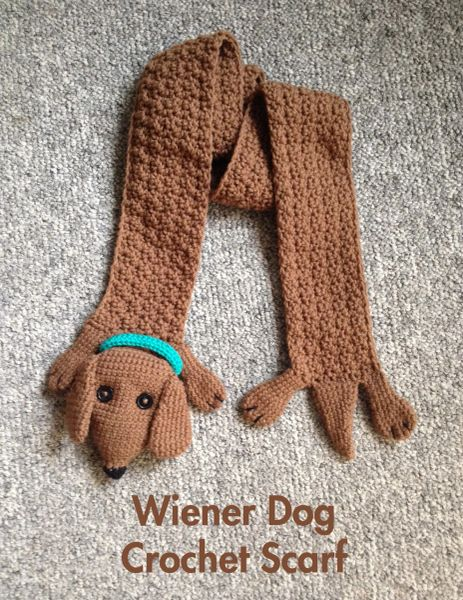 Wiener Dog Crochet Scarf Pattern Wienerwares
