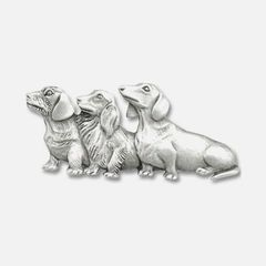 Wire hair, long hair and smooth dachshund pin