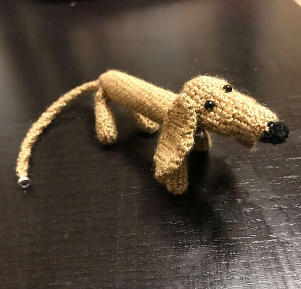 Wiener Dog Crochet Bracelet Pattern