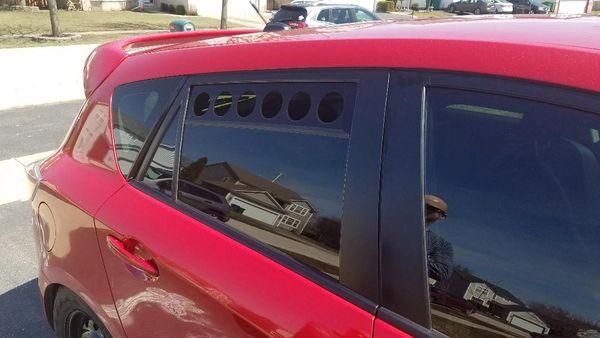 Gen 2 Mazdaspeed 3 & Mazda 3 Hatchback 10-13 Rear Window Track Vents