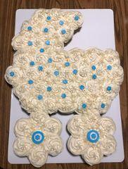 Baby Carriage Cupcake Cake