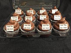 oh crap you're old mini cupcakes (1 dozen)