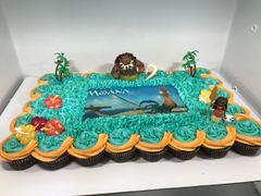 Moana Cupcake Cake
