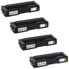 Ricoh 407653 Black 407654 Cyan 407655 Magenta 407656 Yellow Compatible Toner Cartridge