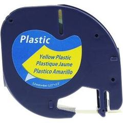 """Dymo 91332 Compatible Black on Yellow 1/2"""" x 13' 12MM P-Touch Label Tape"""