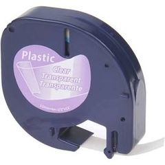"""Dymo 16952 Compatible Black on Clear 1/2"""" x 13' 12MM P-Touch Label Tape"""