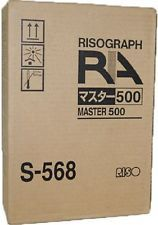 Risograph S568 S568LA Genuine Thermal Master 500LA Rolls - 2 Pack