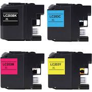Brother LC203BK LC201BK Black LC203C LC201C Cyan LC203M LC201M Magenta LC203Y LC201Y Yellow LC203 LC201 Compatible Inkjet Cartridge