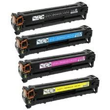 HP CB540A (125A) Black, CB541A Cyan, CB542A Yellow, CB543A Magenta Compatible Toner Cartridge
