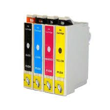 Epson 124 T124120 Black T124220 Cyan T124320 Magenta T124420 Yellow Compatible Inkjet Cartridge