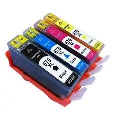 HP 670XL CZ117AL Black CZ118AL Cyan CZ119AL Magenta CZ120AL Yellow Compatible Inkjet Cartridge