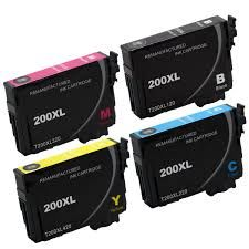 Epson 200XL T200xl120 Black T200xl220 Cyan T200xl320 Magenta T200xl420 Yellow Compatible Pigment Inkjet Cartridge