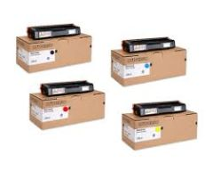 Ricoh 407653 Black 407654 Cyan 407655 Magenta 407656 Yellow Genuine Toner Cartridge