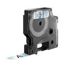 """Dymo 45800 Compatible Black on Clear 3/4"""" x 23' 9mm x 7m P-Touch Tape Label"""