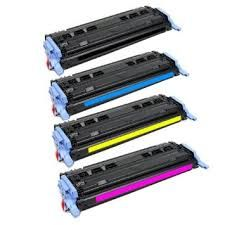 HP Q6000A (124A) Black, Q6001A Cyan, Q6002A Yellow, Q6003A Magenta Compatible Toner Cartridge