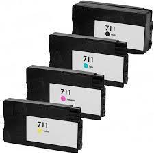 HP 711XL CZ129A CZ133A Black 711 CZ130A Cyan CZ131A Magenta CZ132A Yellow Compatible Inkjet Cartridge
