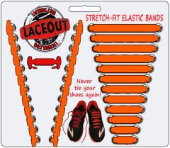 LaceOut, Orange elastic shoelaces for your running or vans shoes
