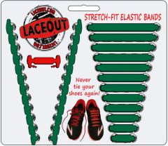 LaceOut, Green elastic shoelaces for your running or vans shoes