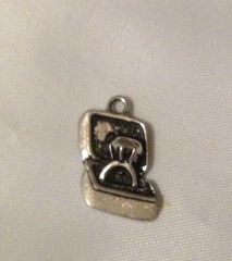 1158. Engagement Ring in Box Pendant