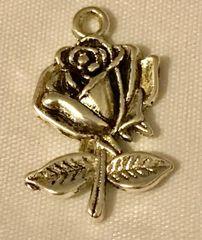 1281. Stemmed Rose Pendant