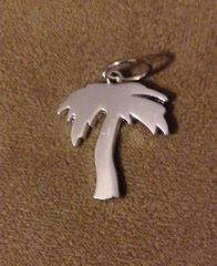 560. Platinum Palm Tree Pendant