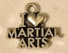 1123. I Love Martial Arts Pendant