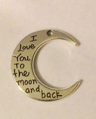 1505. I Love you to the Moon and Back Pendant